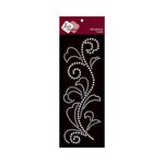 Zva Creative - Self-Adhesive Crystals - Flourish 5 - Clear