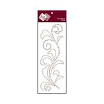 Zva Creative - Self-Adhesive Pearls - Flourish 5 - Taupe