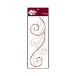 Zva Creative - Self-Adhesive Crystals - Flourish 6 - Champagne and Chocolate