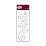 Zva Creative - Self-Adhesive Pearls - Flourish 6 - Taupe