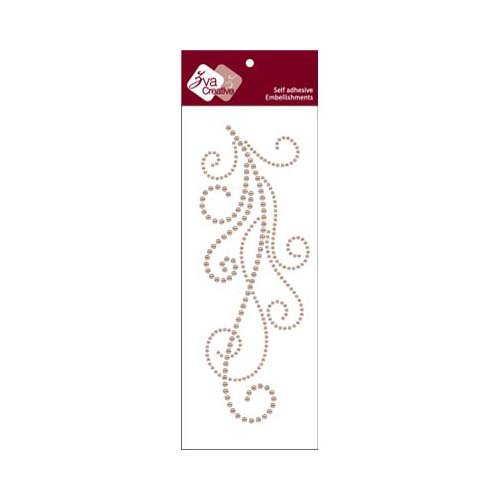 Zva Creative - Self-Adhesive Pearls - Flourish 7 - Taupe