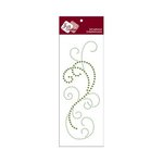 Zva Creative - Self-Adhesive Crystals - Flourish 8 - Lime and Olive