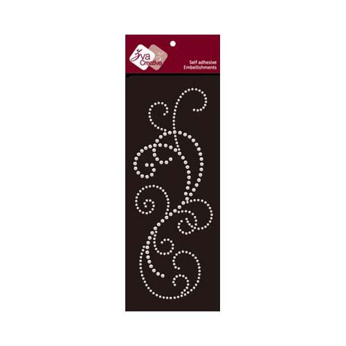 Zva Creative - Self-Adhesive Pearls - Flourish 8 - White