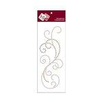 Zva Creative - Self-Adhesive Pearls - Flourish 8 - Taupe