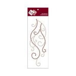 Zva Creative - Self-Adhesive Crystals - Flourish 9 - Champagne and Chocolate