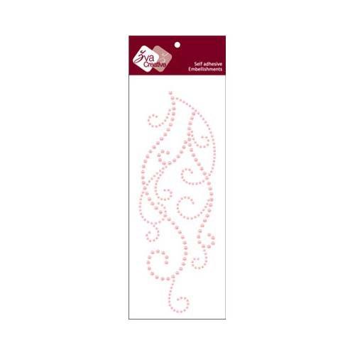 Zva Creative - Self-Adhesive Pearls - Flourish 9 - Pink