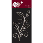 Zva Creative - Self-Adhesive Crystals - Leafy Branch - Jungle Vine - Iridescent, CLEARANCE