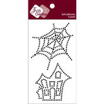 Zva Creative - Self-Adhesive Crystals - Spider Web and Spooky House - Jet, CLEARANCE