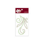 Zva Creative - Self-Adhesive Crystals and Pearls - Flourish 5 - Olive
