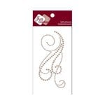 Zva Creative - Self-Adhesive Pearls - Flourish 12 - Taupe