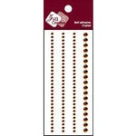 Zva Creative - Self-Adhesive Crystals - Basic Lines - Chocolate, CLEARANCE