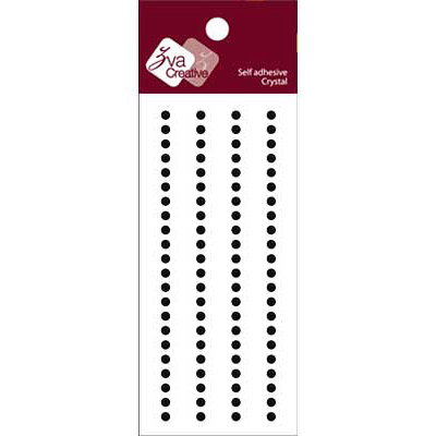 Zva Creative - Self-Adhesive Crystals - Basic Lines - .3 cm - Jet, CLEARANCE