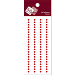Zva Creative - Self-Adhesive Crystals - Basic Lines - .3 cm - Red, CLEARANCE