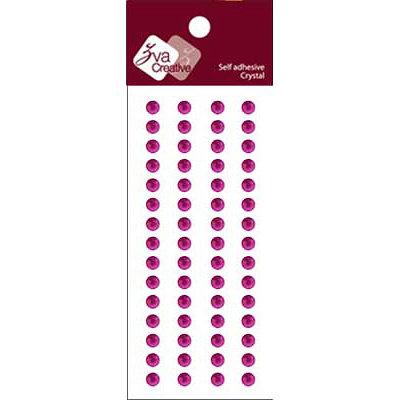 Zva Creative - Self-Adhesive Crystals - Basic Lines - .5 cm - Grape, CLEARANCE
