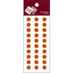 Zva Creative - Self-Adhesive Crystals - Basic Lines - .8 cm - Orange, CLEARANCE