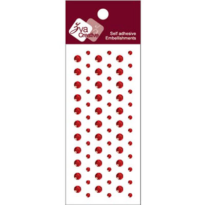 Zva Creative - Self-Adhesive Crystals - Dots - Red
