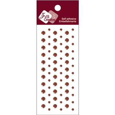 Zva Creative - Self-Adhesive Crystals - Dots - Chocolate