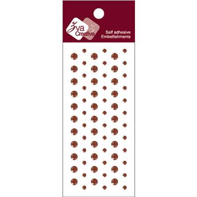 Zva Creative - Self-Adhesive Crystals - Dots - Chocolate