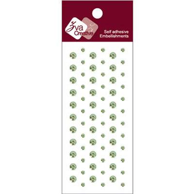 Zva Creative - Self-Adhesive Crystals - Dots - Lime
