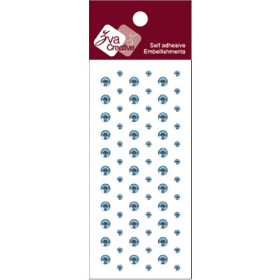 Zva Creative - Self-Adhesive Crystals - Dots - Soft Blue