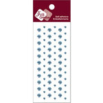 Zva Creative - Self-Adhesive Crystals - Dots - Soft Blue