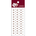 Zva Creative - Self-Adhesive Pearls - Dots - Taupe