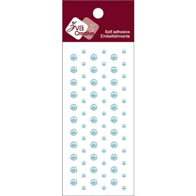 Zva Creative - Self-Adhesive Pearls - Dots - Soft Blue