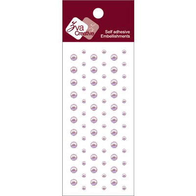 Zva Creative - Self-Adhesive Pearls - Dots - Lavender