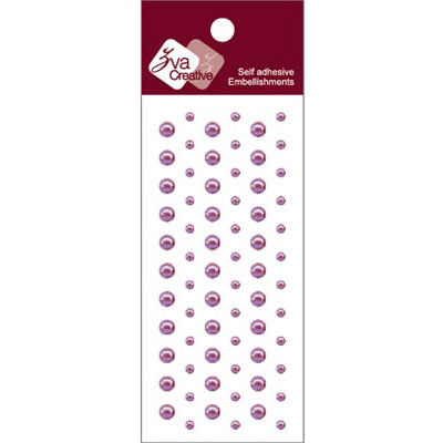 Zva Creative - Self-Adhesive Pearls - Dots - Light Grape