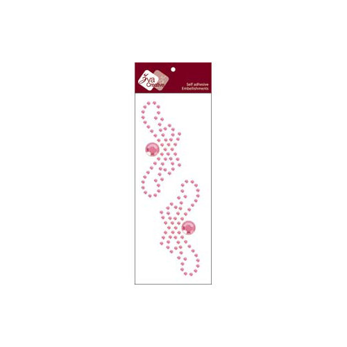 Zva Creative - Self-Adhesive Crystals - Small Symmetrical Flourishes 1 - Pink