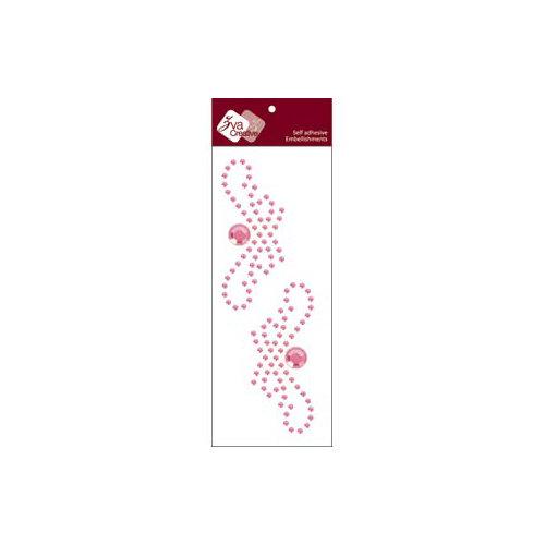 Zva Creative - Self-Adhesive Crystals - Small Symmetrical Flourishes 1 - Pink