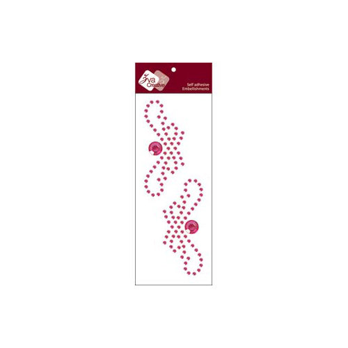 Zva Creative - Self-Adhesive Crystals - Small Symmetrical Flourishes 1 - Rosy
