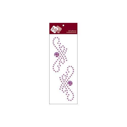 Zva Creative - Self-Adhesive Crystals - Small Symmetrical Flourishes 1 - Lavender