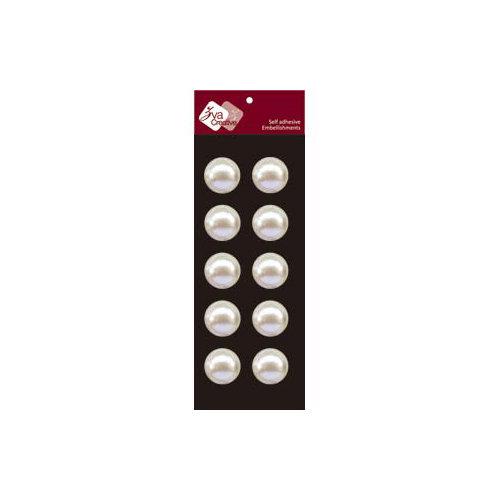 Zva Creative - Self-Adhesive Pearls - Dots 2 - White