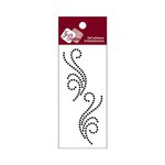 Zva Creative - Self-Adhesive Crystals - Small Symmetrical Flourishes 5 - Jet