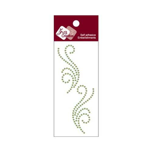 Zva Creative - Self-Adhesive Crystals - Small Symmetrical Flourishes 5 - Lime
