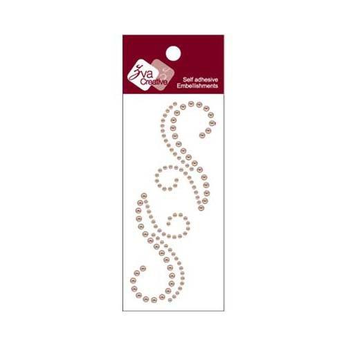 Zva Creative - Self-Adhesive Pearls - Small Symmetrical Flourishes 7 - Taupe
