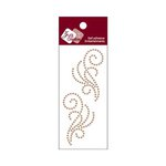 Zva Creative - Self-Adhesive Crystals - Small Symmetrical Flourishes 8 - Champagne