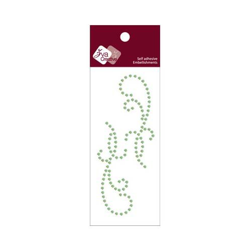 Zva Creative - Self-Adhesive Crystals - Small Symmetrical Flourishes 11 - Lime