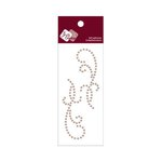 Zva Creative - Self-Adhesive Pearls - Small Symmetrical Flourishes 11 - Taupe