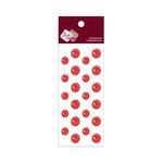 Zva Creative - Self-Adhesive Crystals - Mini Flowers - Red