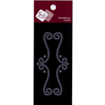 Zva Creative - Self-Adhesive Crystals - Small - Elegant Flourish