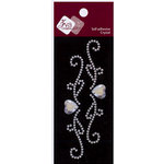 Zva Creative - Self-Adhesive Crystals - Small - Heart Flourish, CLEARANCE