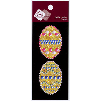 Zva Creative - Self-Adhesive Crystals - Small - Easter Eggs, CLEARANCE