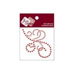 Zva Creative - Self-Adhesive Crystals - Flourish 14 - Red