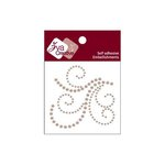 Zva Creative - Self-Adhesive Pearls - Flourish 17 - Taupe