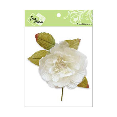 Zva Creative - Flower Embellishments - Bermuda Blooms - White