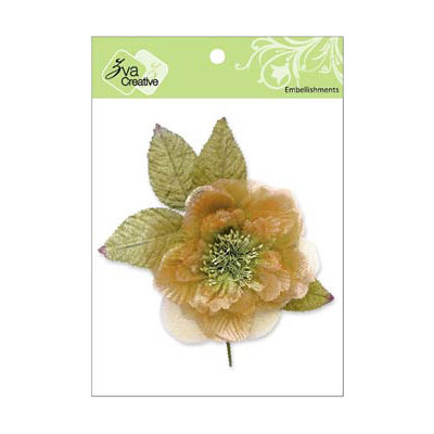 Zva Creative - Flower Embellishments - Bermuda Blooms - Peach