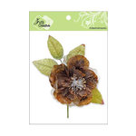 Zva Creative - Flower Embellishments - Bermuda Blooms - Chestnut