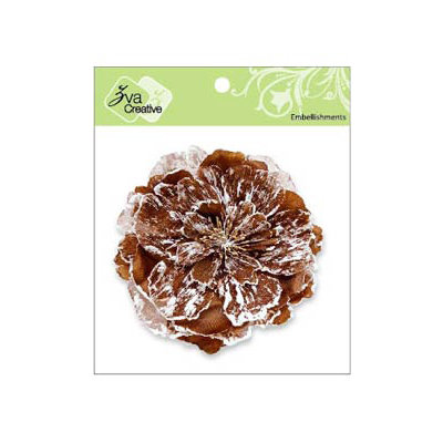 Zva Creative - Flower Embellishments - Key West Keepsakes - Chestnut